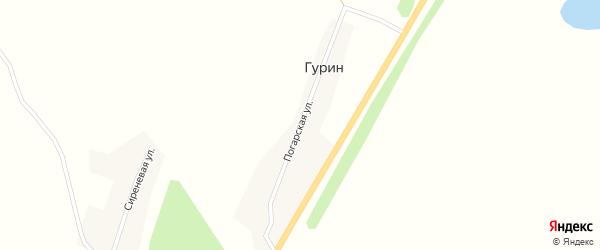 Погарская улица на карте поселка Гурина с номерами домов