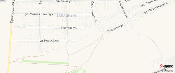 Цветочная улица на карте Почепа с номерами домов