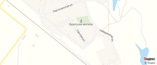 Светлая улица на карте села Витемли с номерами домов
