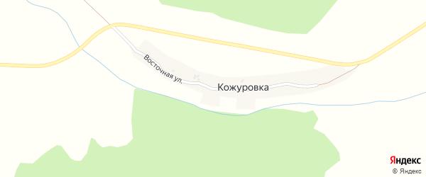Восточная улица на карте поселка Кожуровки с номерами домов