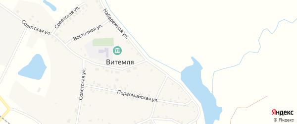 Набережная улица на карте села Витемли с номерами домов