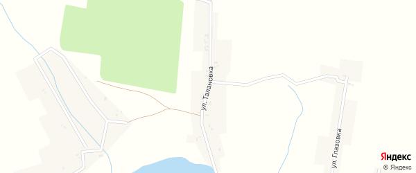 Улица Талановка на карте села Доманичей с номерами домов