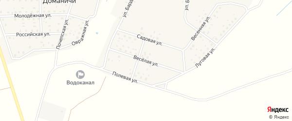 Веселая улица на карте села Доманичей с номерами домов