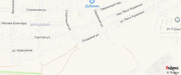 Плодовая улица на карте Почепа с номерами домов