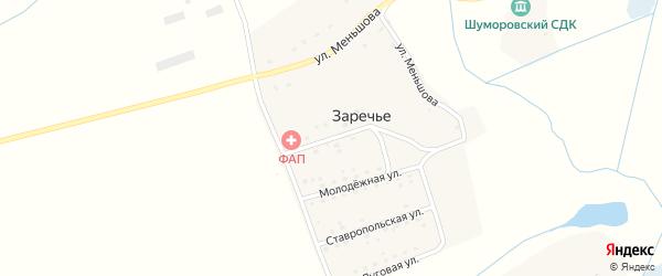 Новозаречная улица на карте поселка Заречья с номерами домов