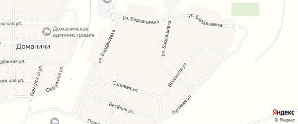 Овражная улица на карте села Доманичей с номерами домов