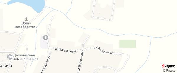 Улица Бардашевка на карте села Доманичей с номерами домов