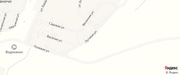 Луговая улица на карте села Доманичей с номерами домов
