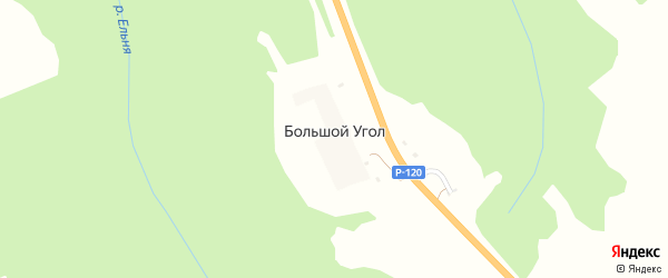 Сиреневая улица на карте поселка Большого Угла с номерами домов