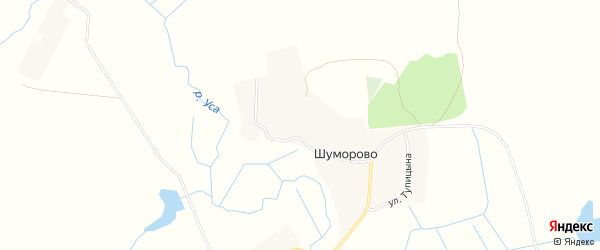 Карта села Шуморово в Брянской области с улицами и номерами домов