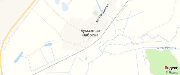 Карта деревни Бумажной Фабрики в Брянской области с улицами и номерами домов