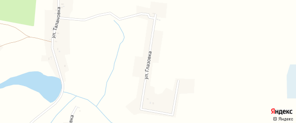 Улица Глазовка на карте села Доманичей с номерами домов