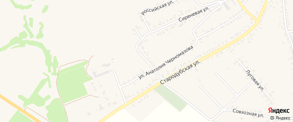 6-й Стародубский переулок на карте Почепа с номерами домов