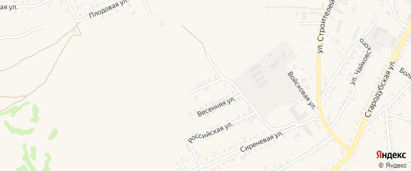 Озаренная улица на карте Почепа с номерами домов