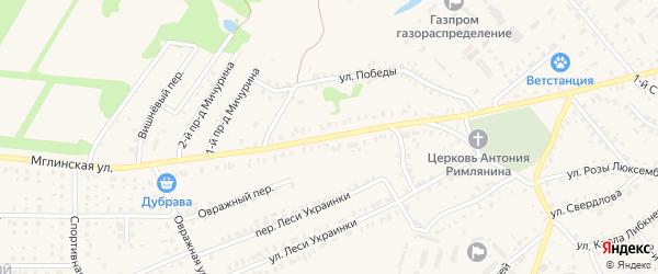 Мглинская улица на карте Почепа с номерами домов