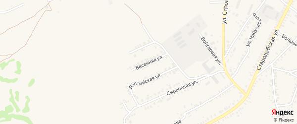 Весенняя улица на карте Почепа с номерами домов