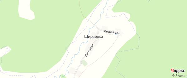 Карта деревни Ширяевки в Брянской области с улицами и номерами домов