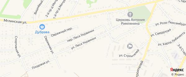 Улица Леси Украинки на карте Почепа с номерами домов