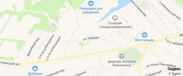 Улица Победы на карте Почепа с номерами домов