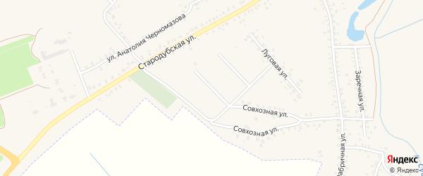 2-й Луговой переулок на карте Почепа с номерами домов