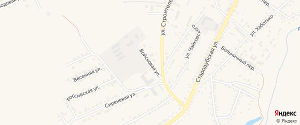 Войсковая улица на карте Почепа с номерами домов