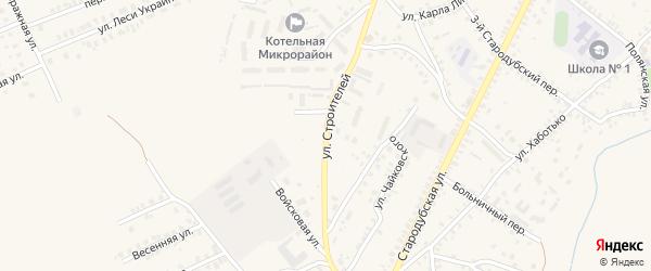 Улица Строителей на карте Почепа с номерами домов