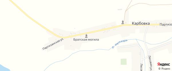 Заречная улица на карте деревни Карбовки с номерами домов