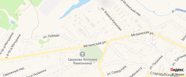 2-й Мглинский переулок на карте Почепа с номерами домов