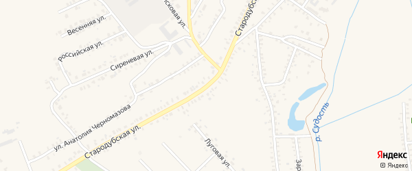 Стародубская улица на карте Почепа с номерами домов