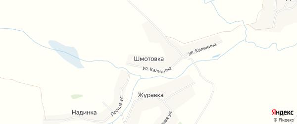 Карта деревни Шмотовки в Брянской области с улицами и номерами домов