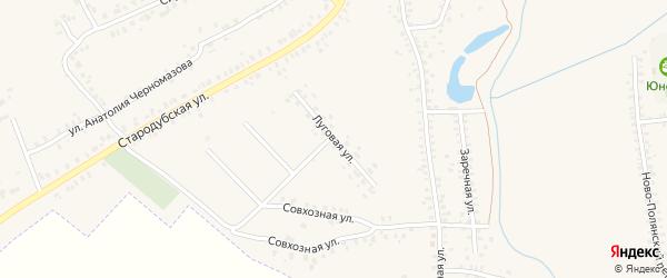 Луговая улица на карте Почепа с номерами домов