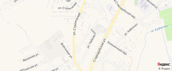 5-й Стародубский переулок на карте Почепа с номерами домов