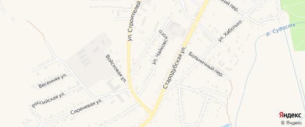 Улица Чайковского на карте Почепа с номерами домов