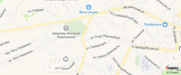 Улица Розы Люксембург на карте Почепа с номерами домов