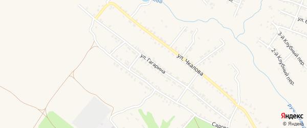 Улица Гагарина на карте Почепа с номерами домов