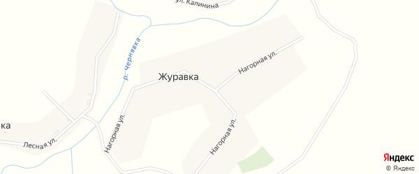 Нагорная улица на карте деревни Журавки с номерами домов