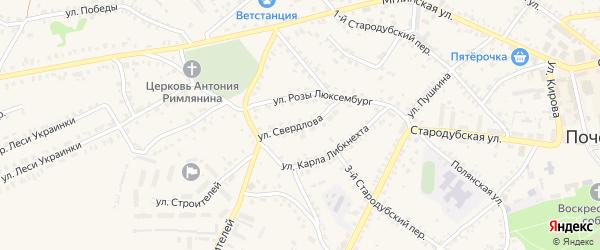 Улица Свердлова на карте Почепа с номерами домов