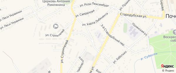 4-й Стародубский переулок на карте Почепа с номерами домов