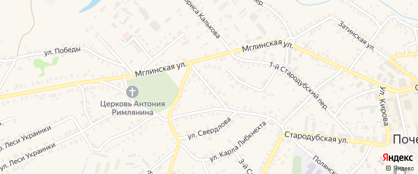 3-й Мглинский переулок на карте Почепа с номерами домов