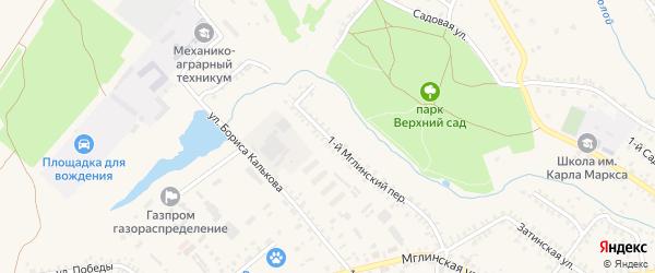 1-й Мглинский переулок на карте Почепа с номерами домов