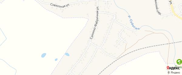 Суконно-Фабричная улица на карте Почепа с номерами домов