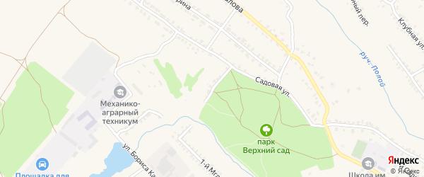 2-й Садовый переулок на карте Почепа с номерами домов