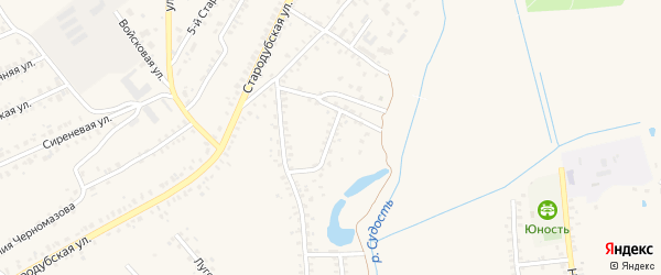2-й Суконно-Фабричный переулок на карте Почепа с номерами домов