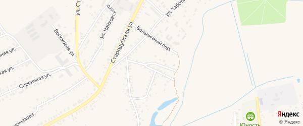 1-й Суконно-Фабричный переулок на карте Почепа с номерами домов