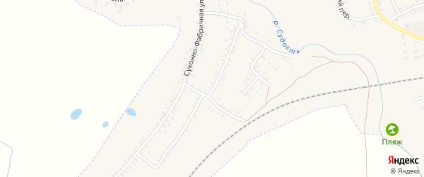 3-й Суконно-Фабричный переулок на карте Почепа с номерами домов