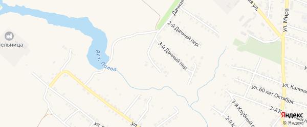 4-й Дачный переулок на карте Почепа с номерами домов