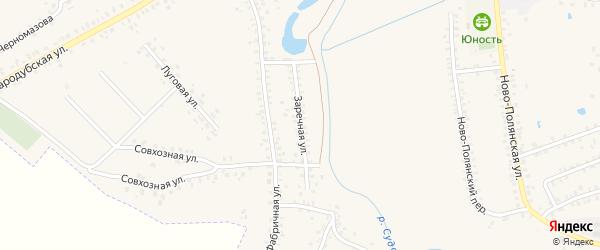 Заречная улица на карте села Сетолово с номерами домов