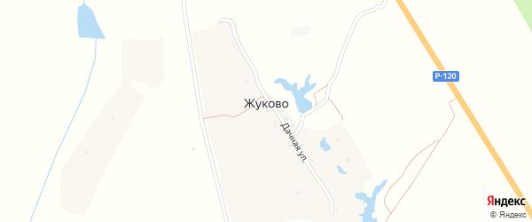 Дачная улица на карте деревни Жуково с номерами домов