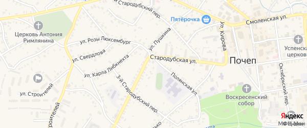 2-й Стародубский переулок на карте Почепа с номерами домов