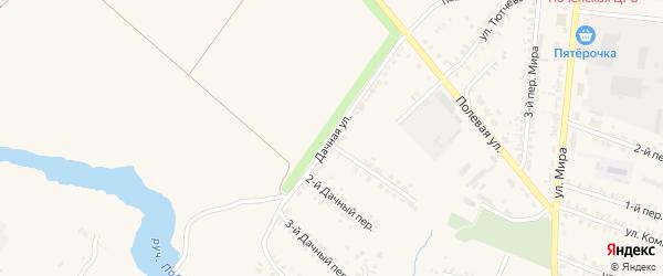 Дачная улица на карте Почепа с номерами домов